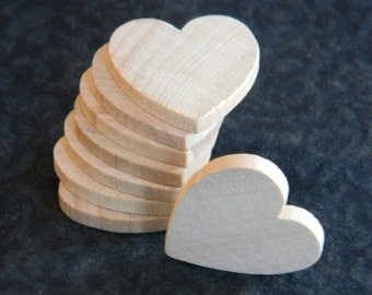 1 inch wooden heart cutouts lot of 25 unfinished wood for Wooden hearts for crafts