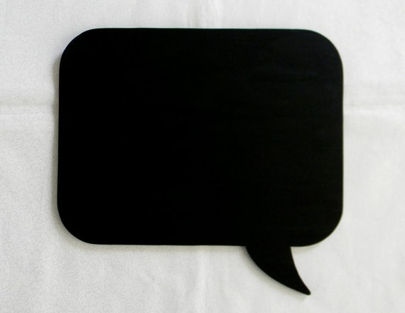 Chalkboard - Speech Bubble - Rectangle - Wooden Chalk Board Memo Sign - Holiday, Wedding, Party, Photography Prop