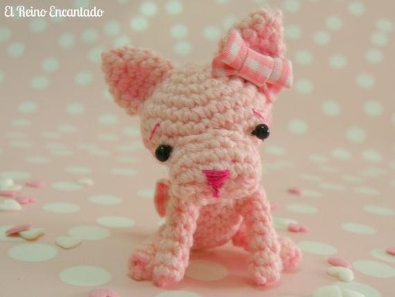 Amigurumi Puppy. Crocheted Blythe pet. Miniature