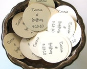 Wedding Favor Tags Set of Ten Personalized Round Paper Gift Tags