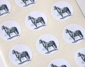 Horse Stickers - One Inch Round Seals