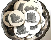 Vintage Camera Tags Round Gift Tags Set of 10