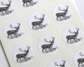 Deer Stickers - One Inch Round Seals