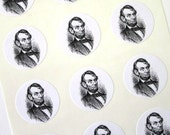 Abraham Lincoln Stickers One Inch Round Seals