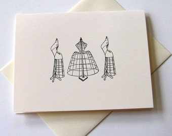 Set of 10 Dress Form Notecards