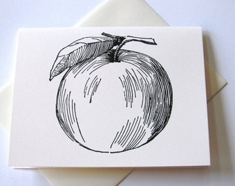 Set of 10 Apple Notecards