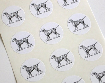 Spotted Dog Stickers - One Inch Round Seals