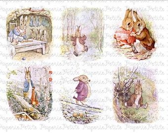 Benjamin Bunny Digital Download Collage Sheet B