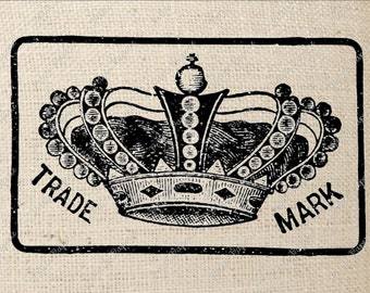 Crown Trademark Sign Digital Download Iron On Transfer
