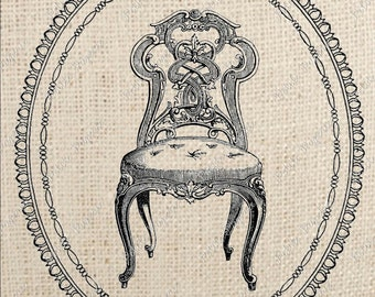 French Chair Digital Download Iron On Transfer A