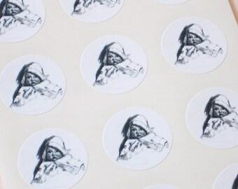 Baby Stickers - One Inch Round Seals