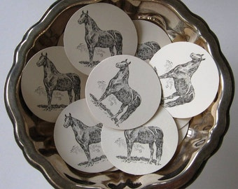 Horse Tags Round Gift Tags Set of 10