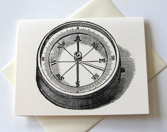 Compass Note Cards - Set of Ten