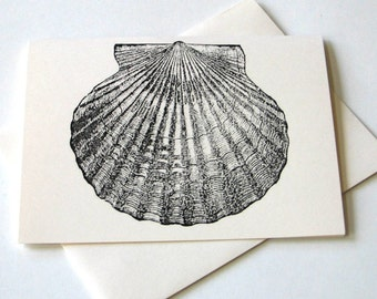 Scalloped Shell Notecard Set of 4