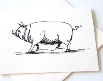 Pig Notecards - Set of 10