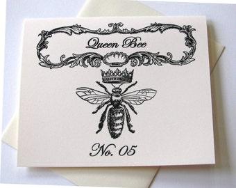 Queen Bee Note Cards Set of 10