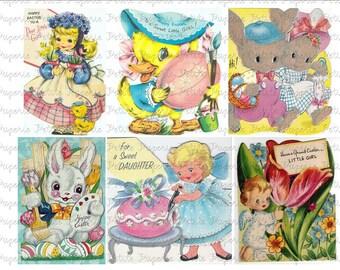 Vintage Easter Cards Digital Download Collage Sheet B