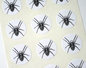 Spider Stickers One Inch Round Seals