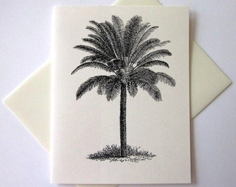 Palm Tree Note Card Set of 10