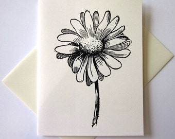 Daisy Flower Tree Note Card Set of 10
