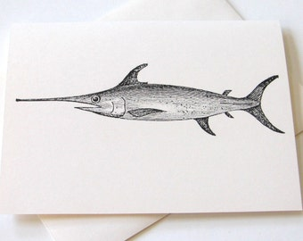 Sleek Swordfish Notecard Set of 10