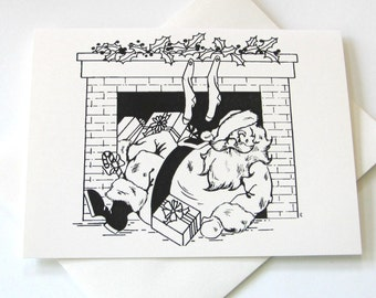 Santa at Chimney Notecards - Set of 10