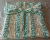 Baby Afghan...37 inches long  x  30 inches wide.