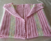 RESERVED FOR LUIS .....            Pink and Yellow   Baby Afghan..40  inches long   x 37 inches wide..