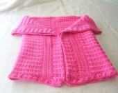 Hot Pink  Baby afghan..38 inches x 29 inches