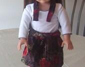 18 inch doll velvet skirt...FREE SHIPPING