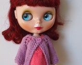 Mauve long sleeved Blythe cardigan/jacket