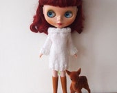 White knitted Blythe dress for winter
