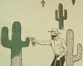 Graffiti Cowboy Tee S, M
