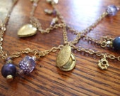 Long Vintage Charms necklace