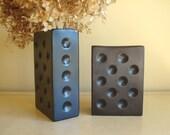 Domino vases, W. Germany vintage ceramic