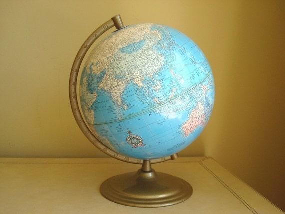 Vintage 12-inch Cram's Imperial World Globe