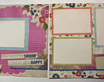 Set of 2 Scrapbook Pages