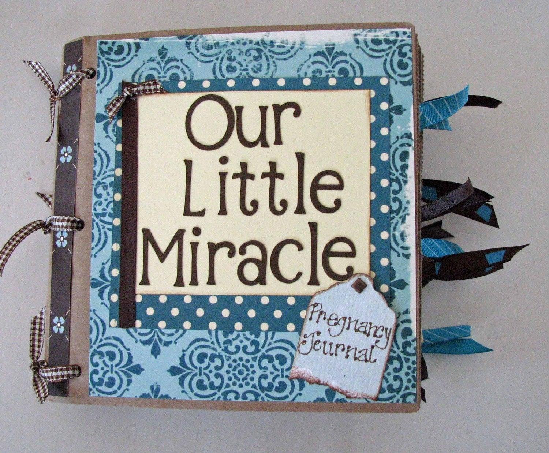 Baby journal scrapbook ideas - Pregnancy journal and scrapbook 6x6