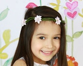 Silk Flower Hair Wreath - Made to order for all ages