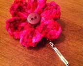 Crochet Flower Bobby Pin