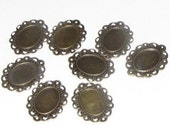 Charm Setting Pendant - 18x13 - brass plated - Lot of 10