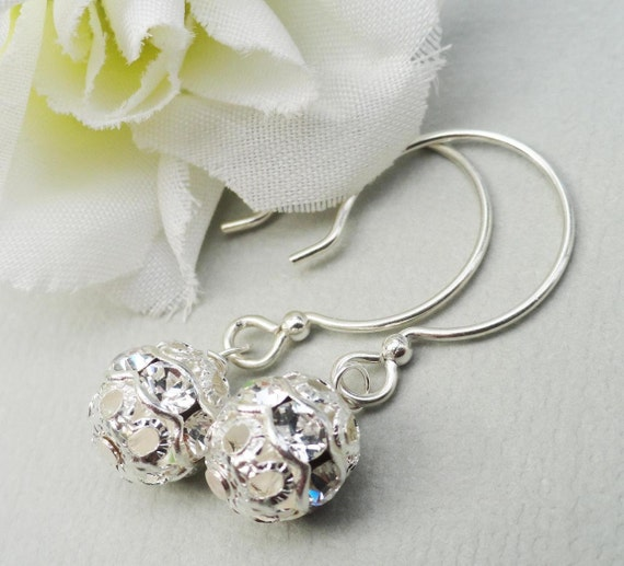 Swarovski Crystal Sterling Silver Hoop Earrings Ideal For Brides Bridesmaids Wedding Party