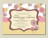 Pink Floral Bridal Shower Invitations | Baby Shower Invitation | Wedding Shower | Bridesmaids Brunch Invites | Luncheon | Engagement Party