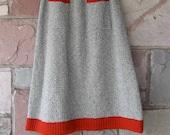 Rare vintage Tricots Sock Monkey Skirt retro mod 60s knit