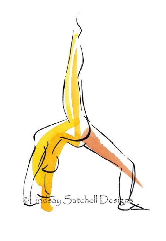 Yoga Art Print - Wheel Pose   Yoga Gifts, Yoga Studio Decor, Yoga Inspiration, Inspiration Gifts, Gift, Inspiration Art