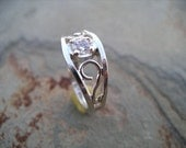 The Crow Ring - Sterling Silver- Large Size RF180c