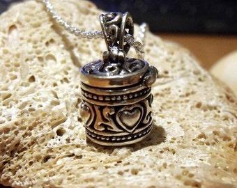 Prayer Box Pendant Sterling Silver RF045