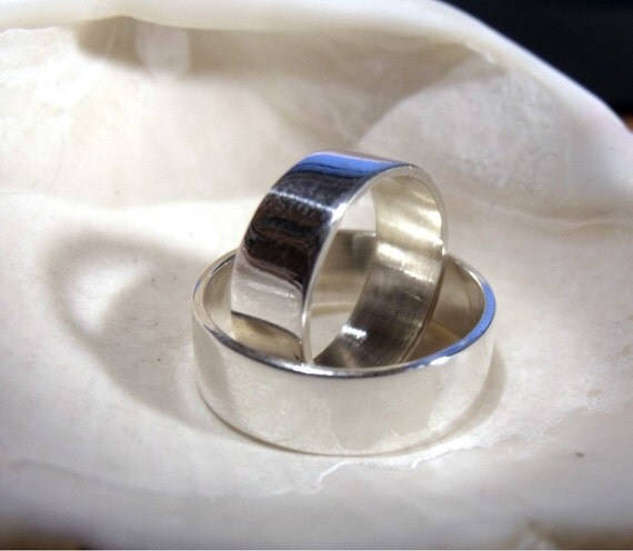 8mm Matching Sterling silver Bands RF350