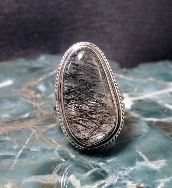 Rutilated Quartz Sterling Silver Ring RF358