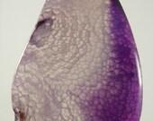Purple Agate Pendant, Silver Necklace, Agate Necklace, OOAK